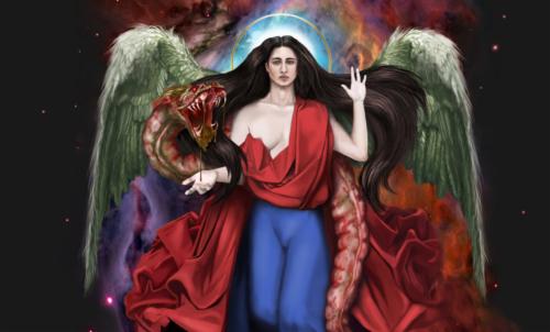 Бог, арт, божество, божественная сущность, трансгендер, транс человек, агендер, гермафродит, андрогин, мужчина с женской грудью, Фонон, змей, страшная змея, кишечник, кишка, гной, гниющий кишечник, кровь, дерьмо, говно, фекалии изо рта, во рту, в пасти, кецалькоатль, пернатый змей, ацтекский бог, чудовище, с богом, голос бога, длинноволосый, страшная пасть, красивое лицо, Глас Божий, парень очень красивый, четырёхпалый, четыре пальца у человека, в космосе человек, серьёзный взгляд, нимб, святой, джерри джерико, читать, купить